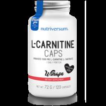 Nutriversum L-Carnitine caps - 120 kapszula - WSHAPE