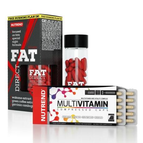 Nutrend Fat Direct + Multivitamin Comp 60caps csomag