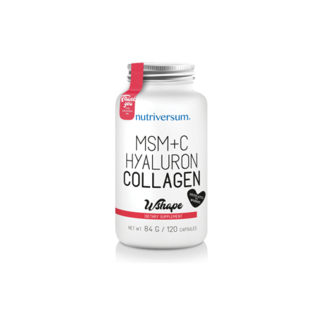 MSM+C Hyaluron Collagen - 120 kapszula - NUTRIVERSUM - WSHAPE