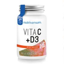 Nutriversum - C+D3 vitamin - 60 tabletta