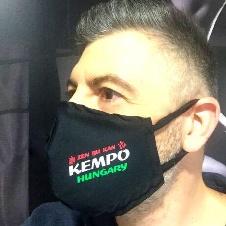 Pamut GYEREK szájmaszk - Zen Bu Kan Kempo Hungary feliratú nyomattal