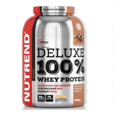 Nutrend Deluxe 100% Whey Protein - 2250 g - Mogyorós-Csokoládé