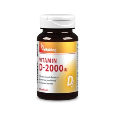 Vitaking D3-vitamin - 2000 NE - 90 kapszula