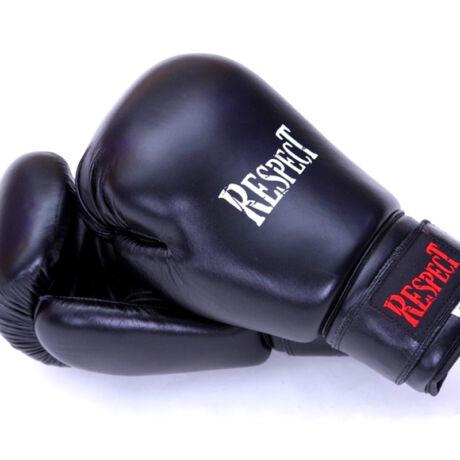 Bőr boxkesztyű | hagyományos tömésű | fekete | Respect