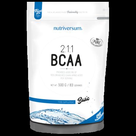 BCAA Aminosav - 500 g - ízesítetlen - Nutriversum
