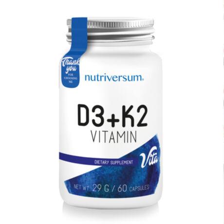 Nutriversum D3+K2 Vitamin - 60 kapszula