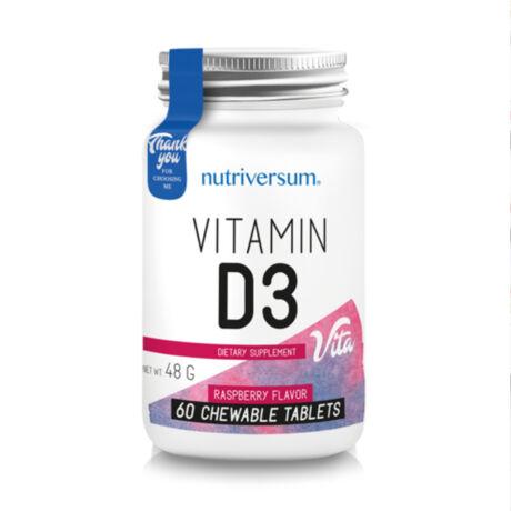 Nutriversum D3 vitamin - 60 rágótabletta